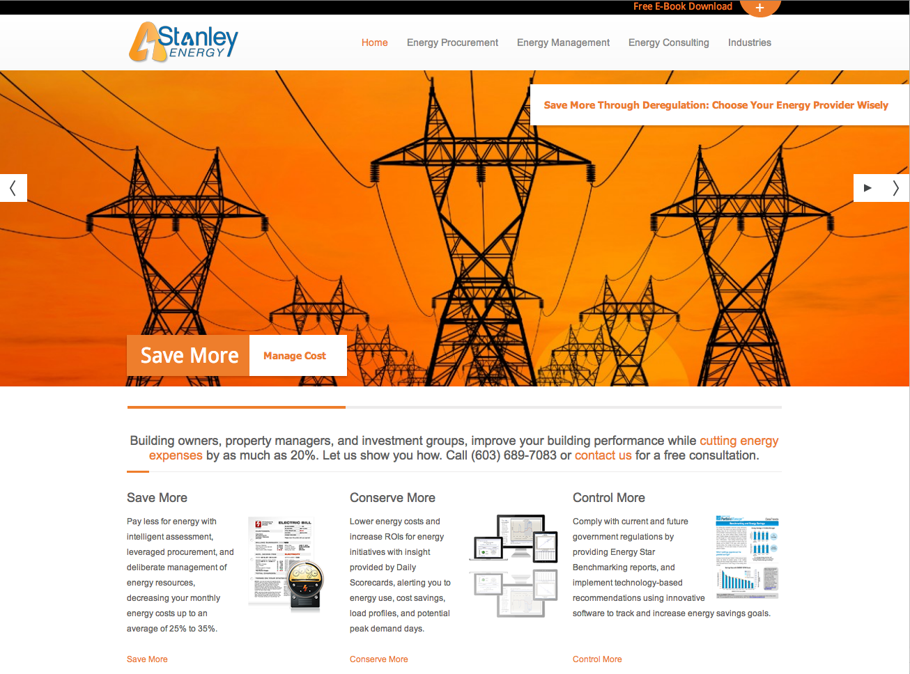 energy management web design