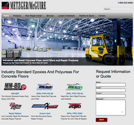 metzger mcguire website design