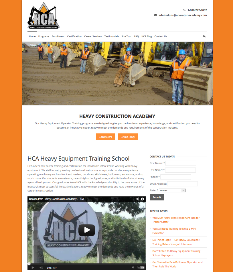 trade school web design